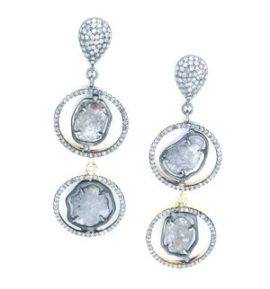 Jordan Alexander Diamond Slice Earrings
