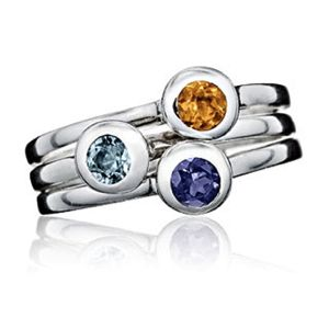 Birthstone Stacking Rings from Luna & Stella
