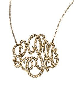West Avenue Diamond Initial Necklace