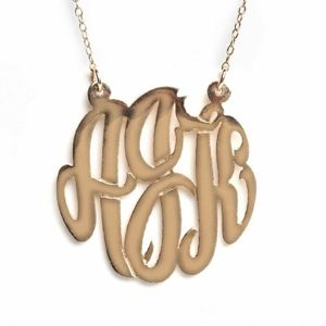 Bauble Bar Initial Monogram Necklace
