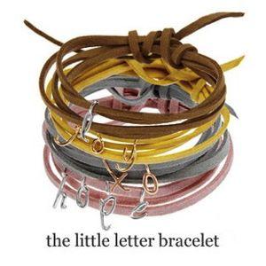 Dalla Nonna Little Letter Bracelets