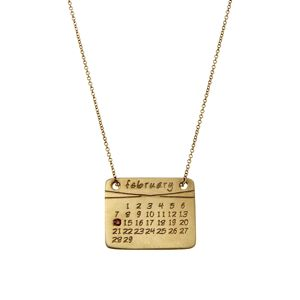 Dalla Nonna Calendar Necklace