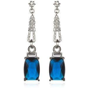 Gerard Yosca Sapphire Rhinestone Earrings