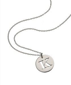 West Avenue Initial Disk Necklace