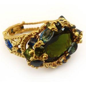 Polly Wales Green Gem Ring