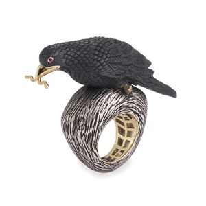 K Brunini Raven Ring