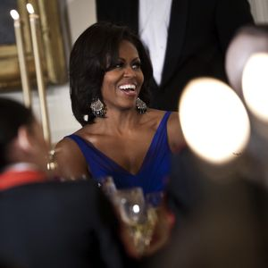 Michelle Obama Wears Suzanna Dai from Fragments Jewelry