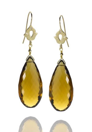 Shamila Jiwa Cognac Quartz Earrings