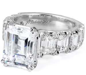 Michael M Emerald Cut ring