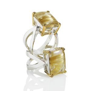 Shamila Jiwa Rutile Quartz Infinity Rings