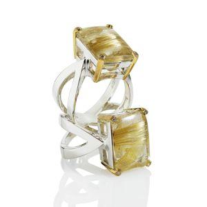 Shamila Jiwa Rutile Quartz Infinity Rings
