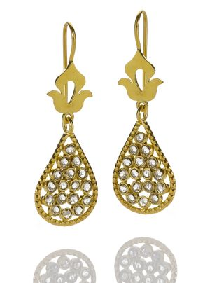 Shamila Jiwa Diamond Teardrop Earrings