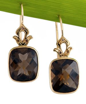 Shamila Jiwa Smoky Quartz Earrings