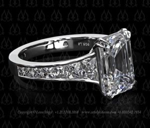 Leon Mege Emerald Cut and French Cut Ring