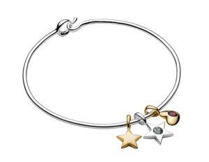 Luna & Stella Charm Bangle Bracelet