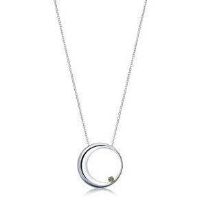 Luna & Stella Moon Birthstone Necklace