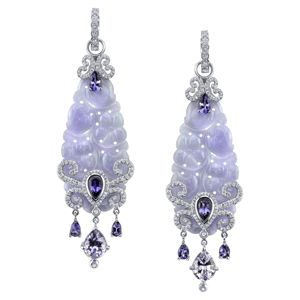 Erica Courtney Luscious Lavendar Earrings
