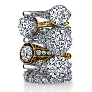Jewelry Designer Spotlight: Single Stone Antique Diamond Engagement Rings
