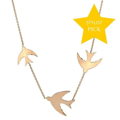 Kismet by Milka flying dove necklace