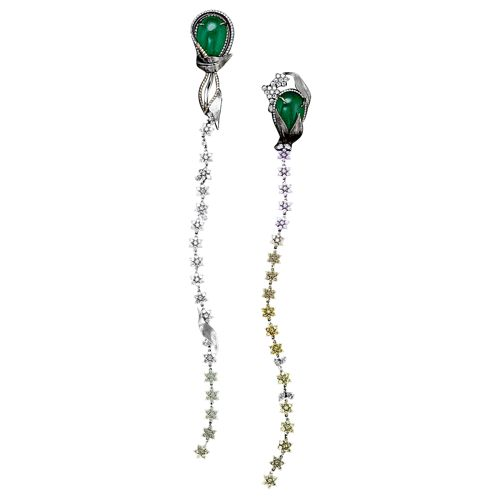Alexandra Mor Emerald Earrings