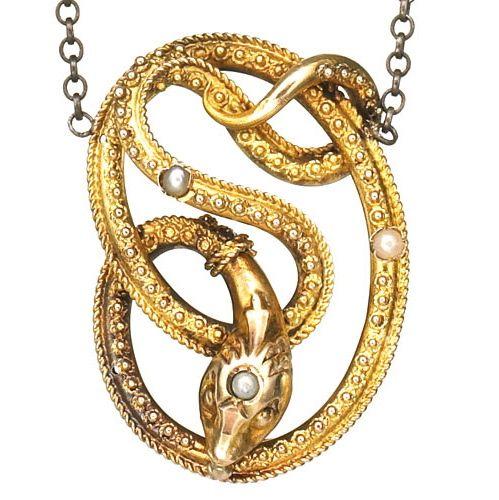Estate of Grace Snake Pendant