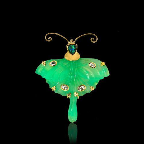 Paula Crevoshay Luna Moth