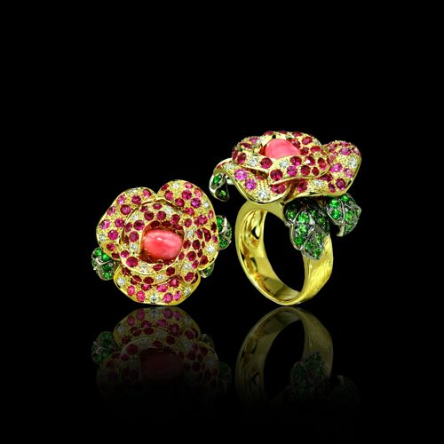 Paula Crevoshay Rose Ring