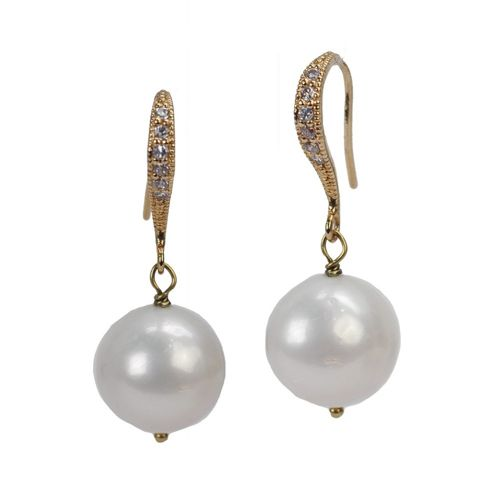 Fragments Mary Louise Pearl Earrings