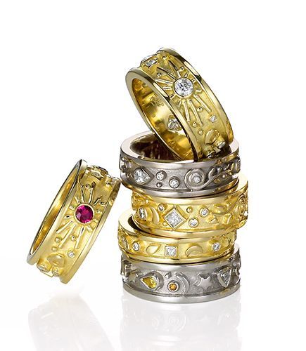 Cornelia Goldsmith Passion RIng Stack