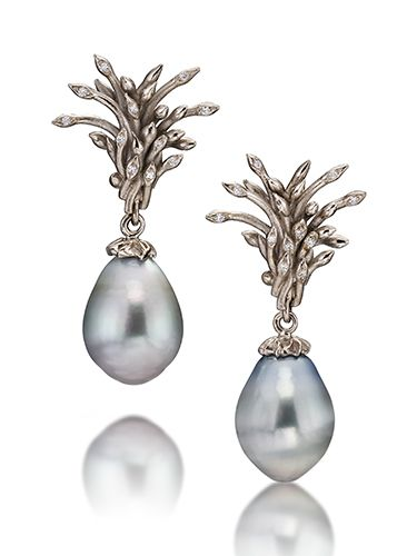 Cornelia Goldsmith Tahitian Pearl Seed Earrings