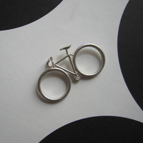 Shopbevel Bicycle Two Finger Ring