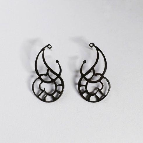 Shopbevel Oxidized Silver Earrings
