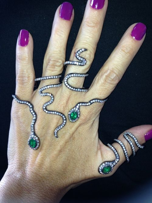 Colette Steckel Couture Design Award Winner Snake Rings