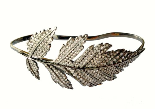 Colette Jewelry Leaf Hand Bracelet