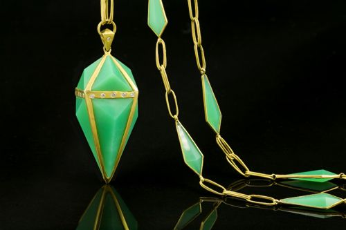 Lauren Harper Kryptonite Chrysoprase Pendant