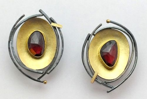 Sydney Lynch Garnet Bird Nest Earrings