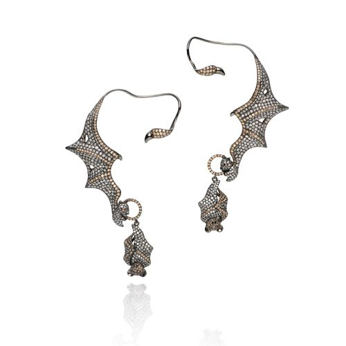 Wendy Yue Diamond Bat Earcuffs