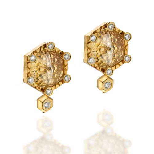 Zaiken Hex Stud Earrings
