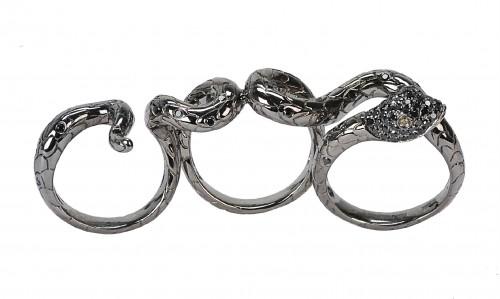 Borgioni 3 Finger Snake Ring