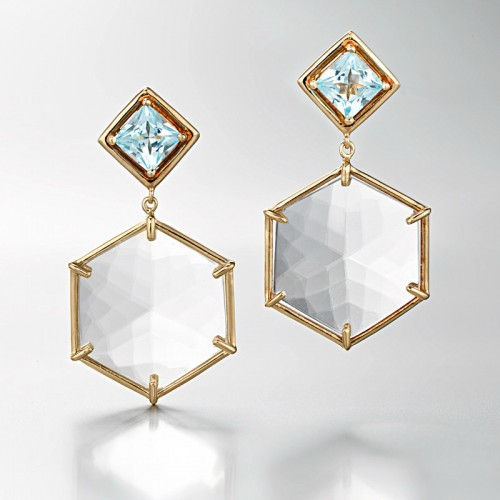 Daria de Koning Hexagonal Earrings