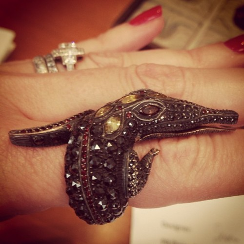 #idazzled: Sevan Bicakci Crocodile Ring