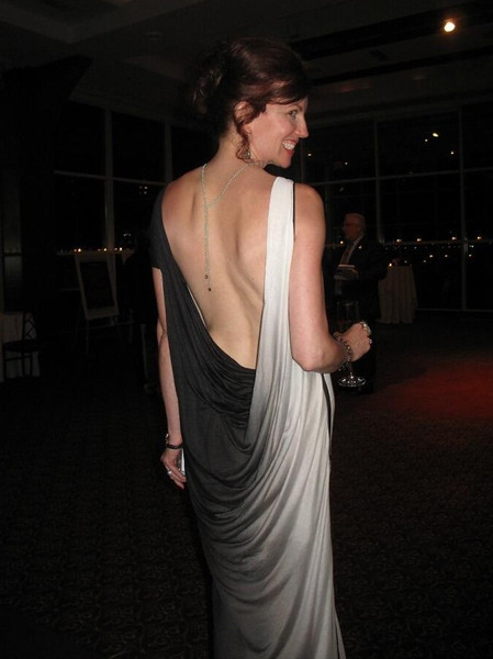 Monica Stephenson backlace at WJA Gala