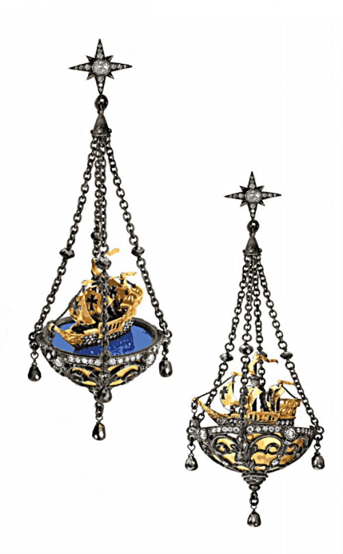 Ship Earrings Arman Sarkisyan