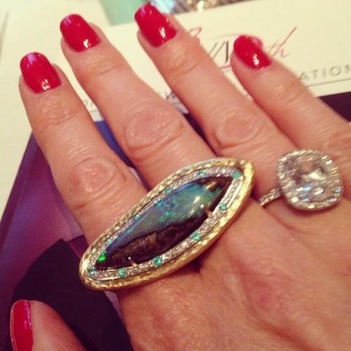 Pamela Froman boulder opal ring