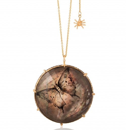 Anna Ruth Henriques hand painted pendant