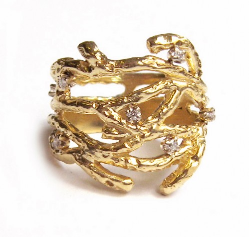 Anna Ruth Henriques Gold Twig Ring