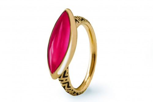 Walt Adler Created Ruby Marquise Ring