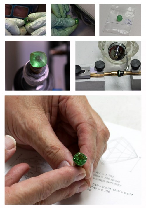 Roger Dery Gemstone Cutting Images