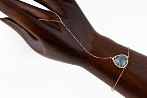 Jacquie Aiche Finger Bracelet with labradorite