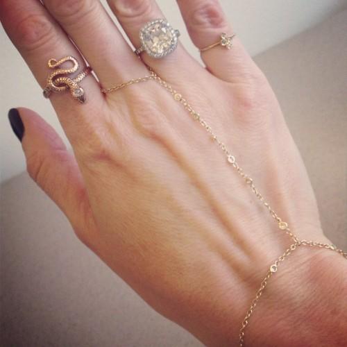 Jacquie Aiche Finger Bracelet